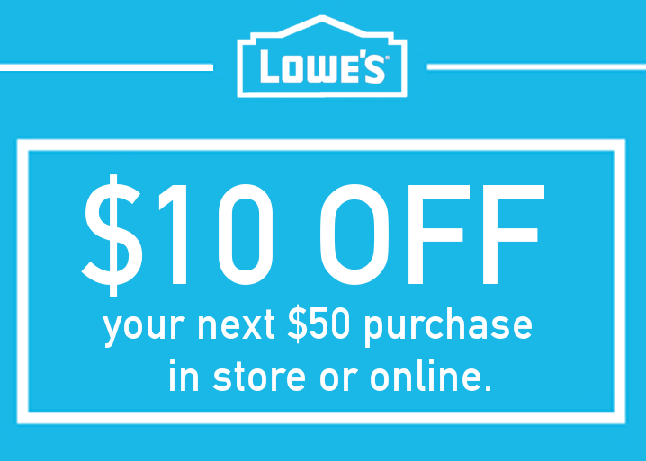 THREE (3x) $10 OFF $50