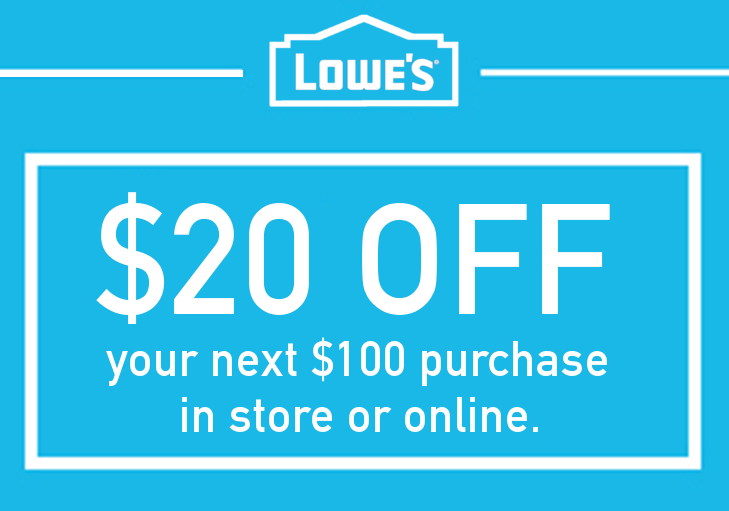 ONE (1x) $20 OFF $100