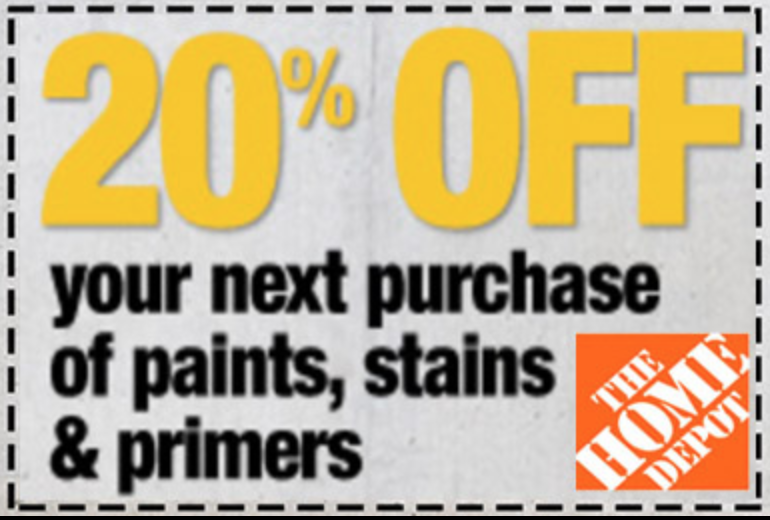 ONE (1x) 20% PAINT, PRIMER & STAINS - HD PRINTABLE