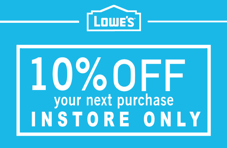 1X 10% IN-STORE Only