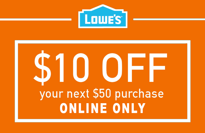 1X $10 OFF $50 ONLINE Only