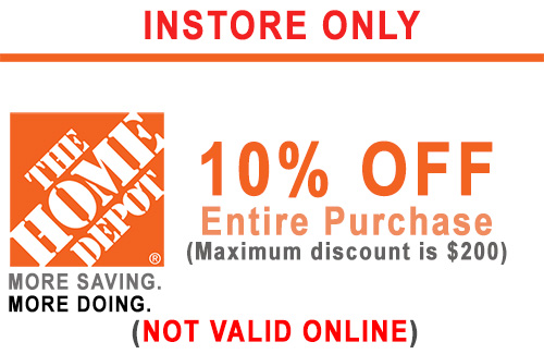 ONE (1x) 10% - HD PRINTABLE INSTORE ONLY