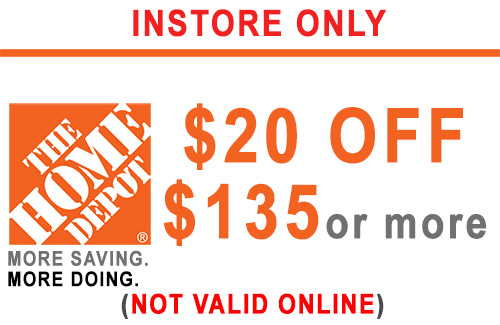 ONE (1x) $20 OFF $135 - HD PRINTABLE INSTORE ONLY